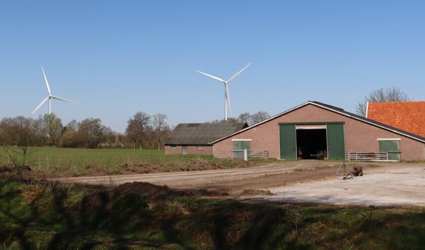 <p>Windturbines, ingetekend in het Achterhoekse coulisselandschap. Foto: PR&nbsp;</p>