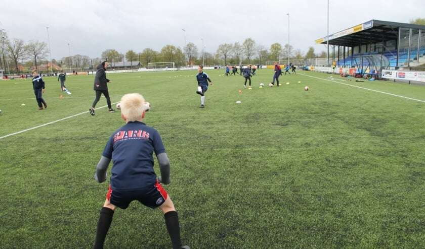 Drukte en veel enthousiasme op de velden van FC Eibergen. Foto: PR