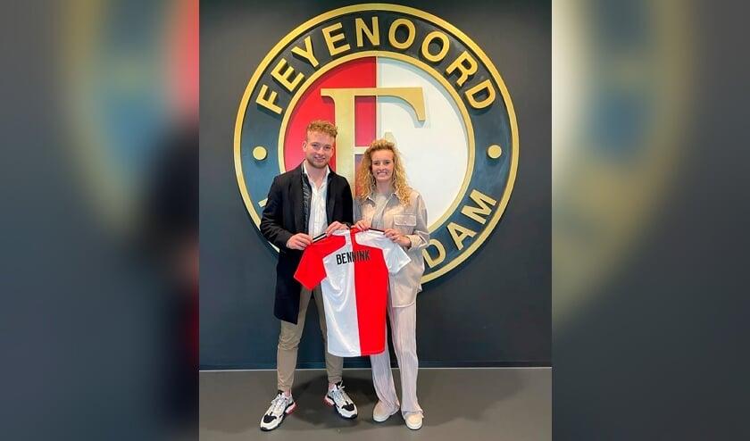 <p>Maxime met haar trotse broer Matiz. Foto: Feyenoord.nl</p>