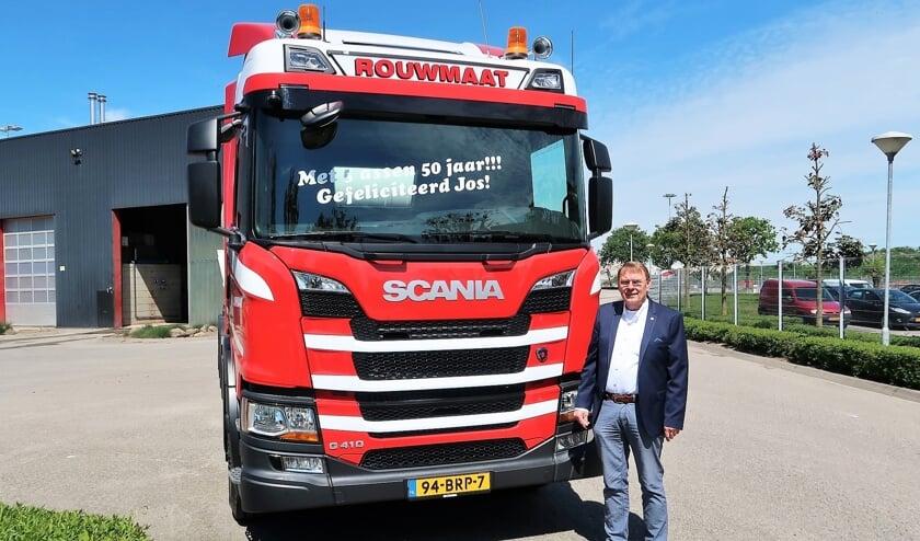 Jos Rouwmaat, 50 jaar in dienst van de Rouwmaat Groep in Groenlo. Foto: Theo Huijskes