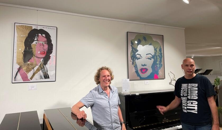 Leo Venderbosch en Gerben Grooten openden de expositie. Foto: PR