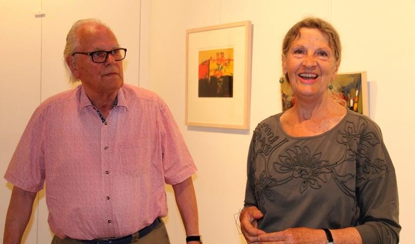Gerri Grijsen en Thijs Buit tijdens de opening van hun tentoonstellingen in de Wereld van Wenters. Foto: Lineke Voltman