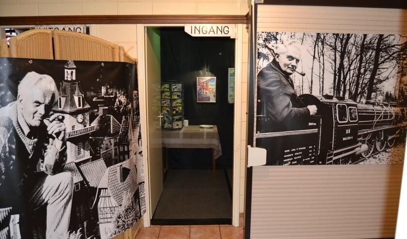 <p>De ingang van de expositie Modelspoor Panorama. &nbsp;Foto Karin Stronks</p>