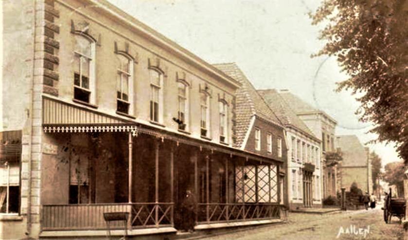 Aalten, Landstraat, Voorderman, De Roskam, fotokaart circa 1910. Foto Collectie Leo van der Linde