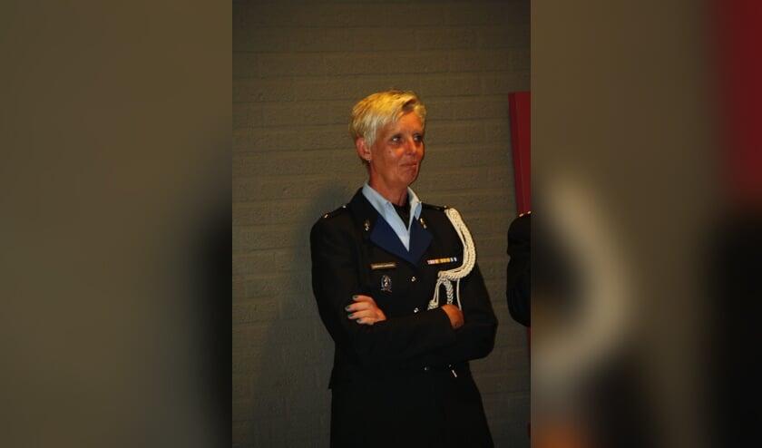 Jacqueline Lammers in uniform. Foto: Eigen foto