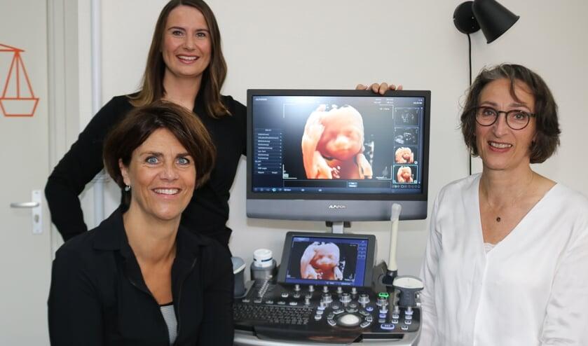 <p>Sabien Dokter, Ellen Reek en Marrianne te Loo van Buik&amp;Co. Foto Arjen Dieperink</p>