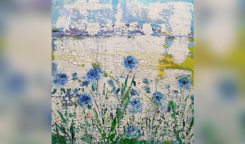 <p>Korenbloemen, een schilderij van Corrie Wolsink-Groen. Foto: PR</p>