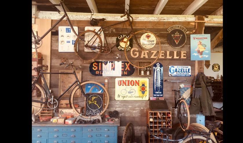 Belangstellenden zijn welkom in het museum waar oude fietsen te bewonderen zijn. Foto: PR