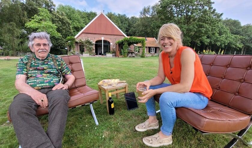 Angelique Kruger in gesprek met Bennie Jolink. Foto PR