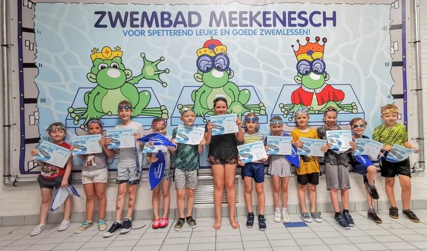 Gefeliciteerd met je zwemdiploma! Foto: Zwemschool Meekenesch