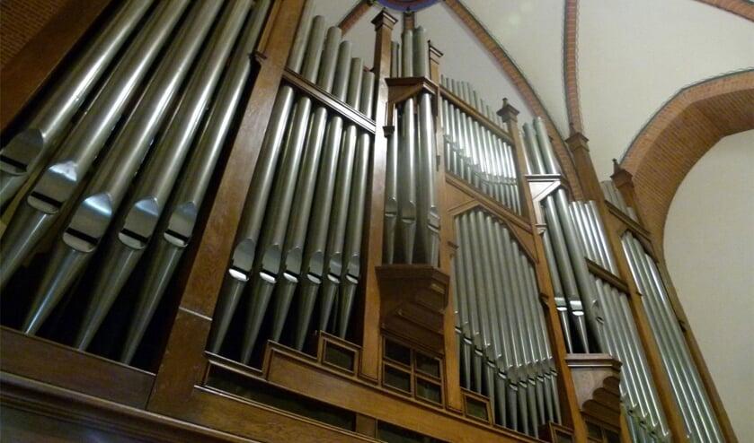 <p>Het prachtige Adema Orgel uit 1926 in de Calixtus-basiliek. Foto: PR<br><br></p>