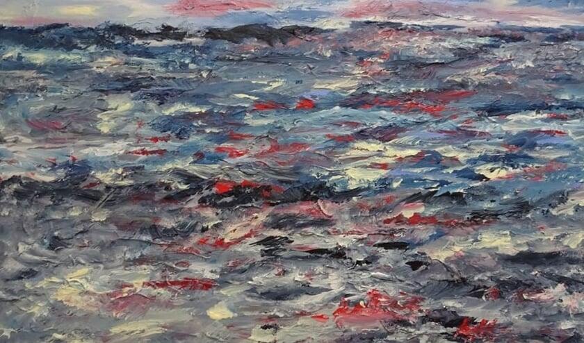 <p>Jan Reurink schilderde de Lofoten (eilandengroep bij Noorwegen); Acryl, 60x80 cm. Eigen foto</p>