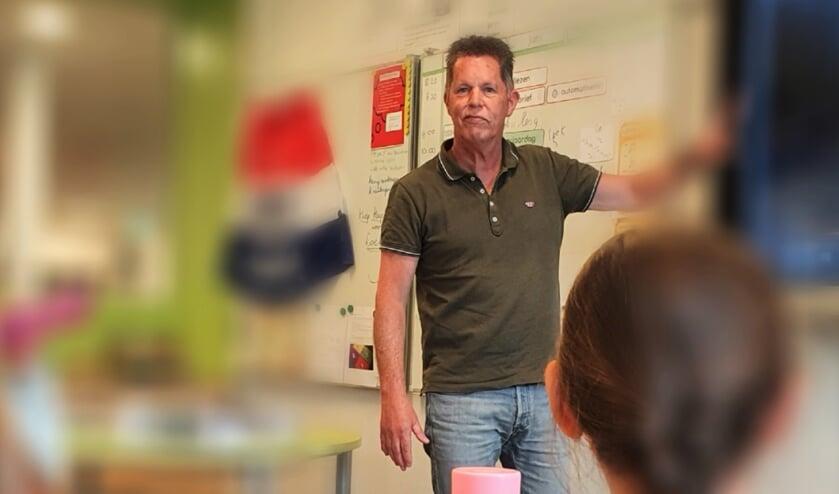 Na dit schooljaar staat Klaas Leutscher niet meer voor de klas. Hij gaat genieten van zijn pensioen. Foto: Alice Rouwhorst