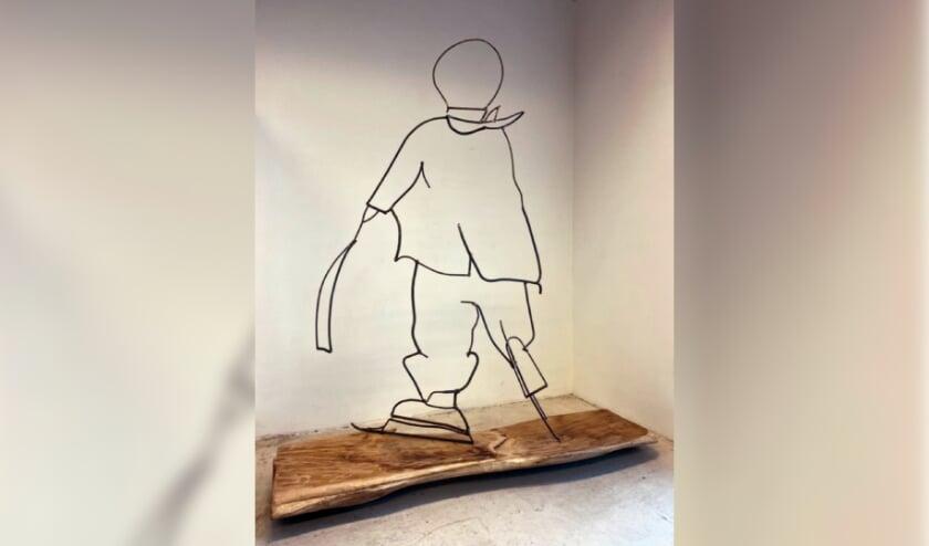 'Schaatser', een kunstwerk van Mirjan Koldeweij. Foto: PR