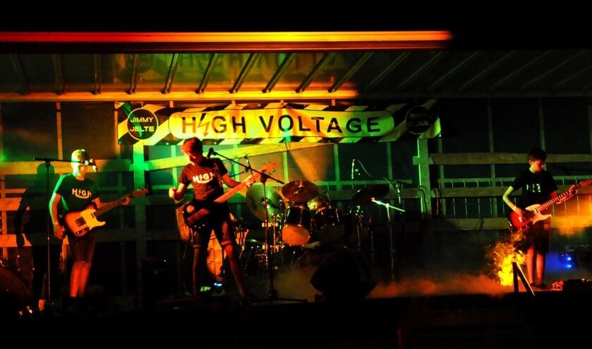 <p>High Voltage speelde op Hessenbadpop. Foto: Pim Edelman</p>