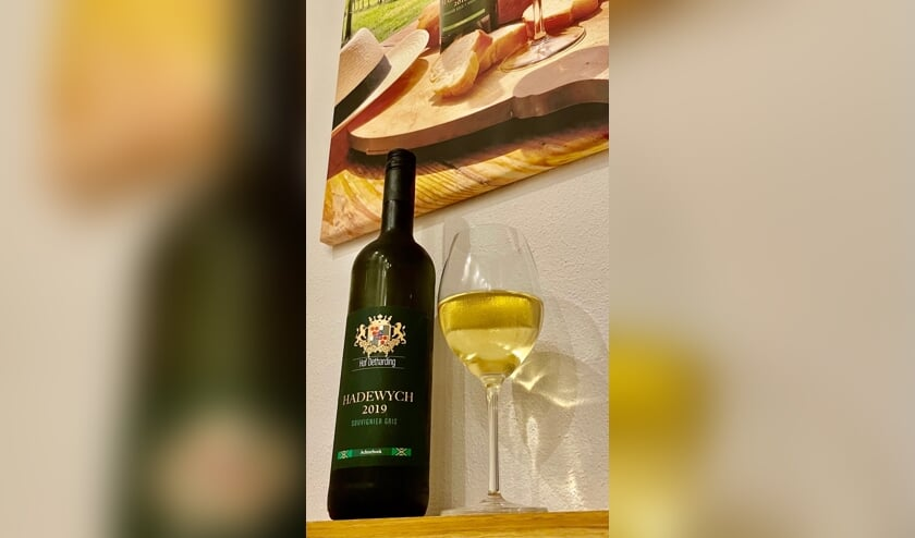 <p>De Hadewych 2019, de beste witte wijn van 2021. Eigen foto</p>