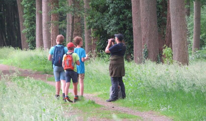 Op zoek naar vogels in het bos. Foto: Ellen Hochstenbach