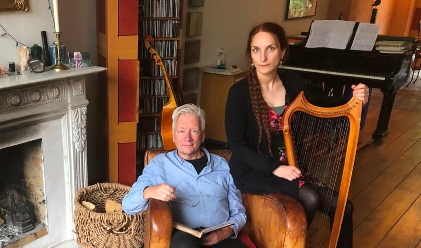 Tenor Nico van der Meel en harpiste Constance Allanic. Foto: PR