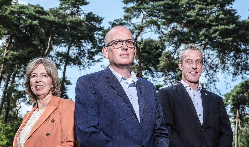 Vlnr: Ingrid Lambregts, Jeroen Berends, Rens Steintjes.