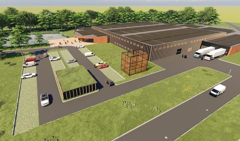 Impressie van de nieuwbouw met een bouwoppervlakte van 12.000 m². Afbeelding: PR