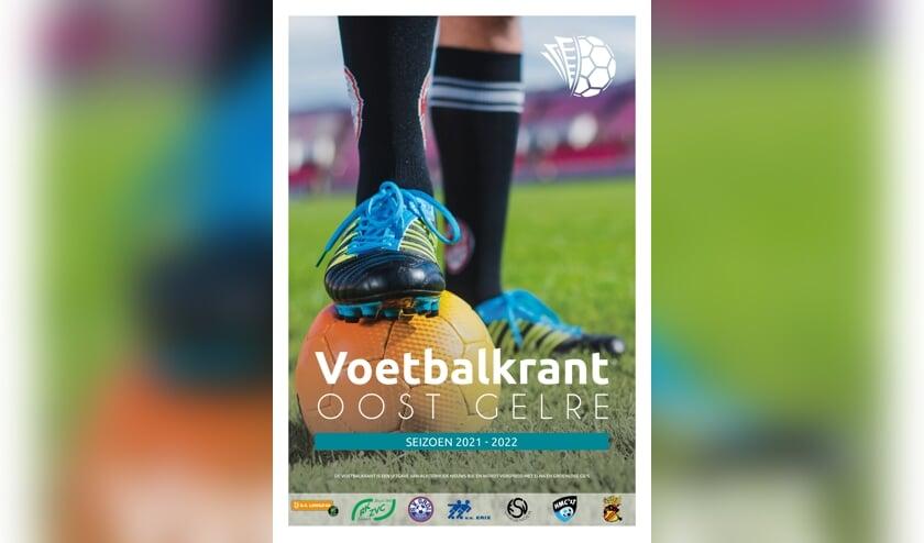 <p>&nbsp;De cover van de nieuwe Voetbalkrant seizoen 2021-2022. Ontwerp: Liesbeth Klein Hulse&nbsp;</p>