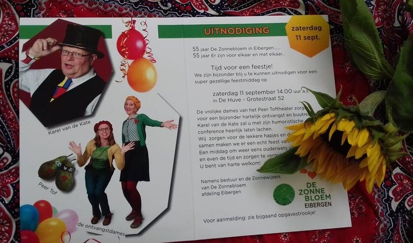 Zonnebloemgasten werden weer verwelkomd in De Huve. Foto: PR