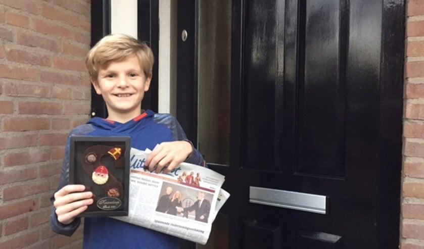 Jeroen Piet is blij met de letter