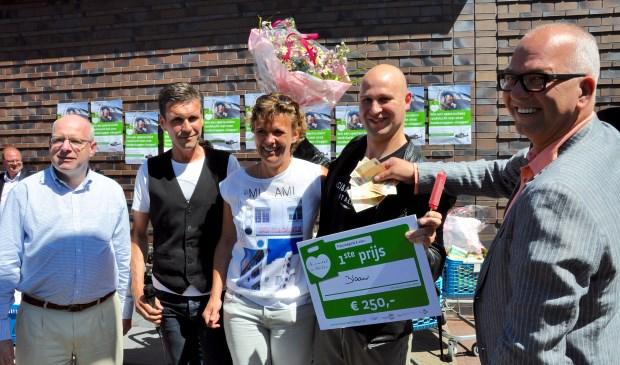 De familie Blaauw won 250 euro contant. Foto Carolien Breed © Uitkijkpost Media B.v.