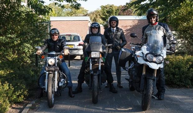 De heren klaar voor de 'ride'.