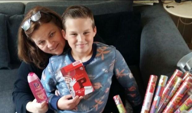 Sandra en haar zoon Boet