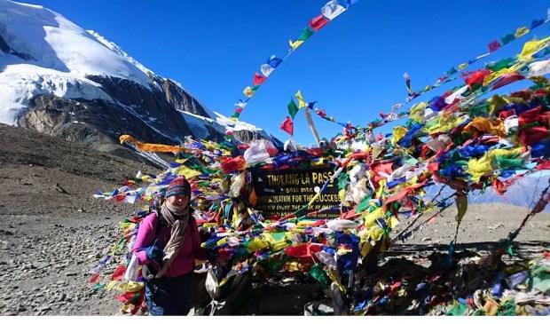 Wietske op de top (5416 m)