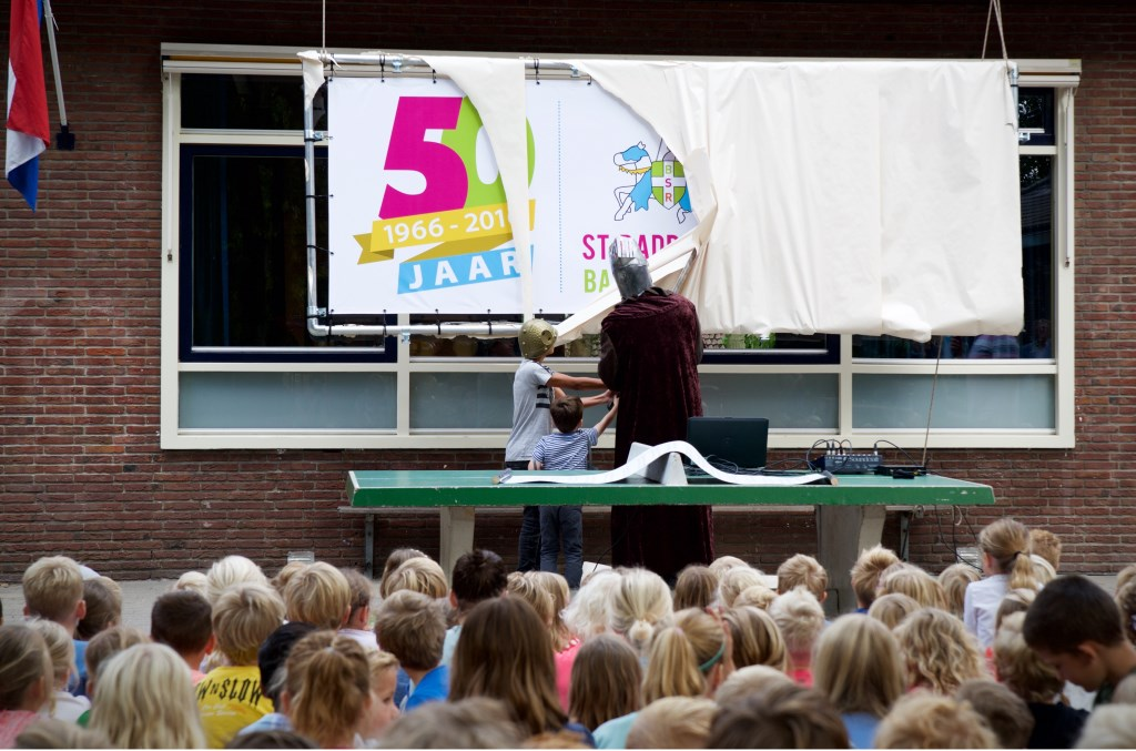 Het jubileumdoek wordt onthuld  © Uitkijkpost Media B.v.