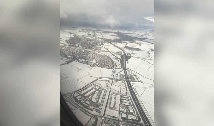 Luchtfoto Uitgeest, december 2017