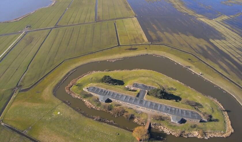 <p>Inundatie Fort Krommeniedijk.</p>