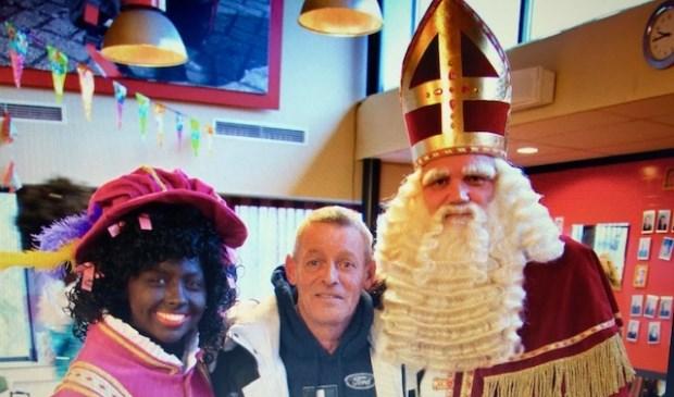 Piet, Edwin Bos en Sinterklaas.