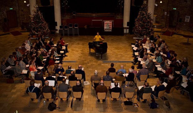 Repetitie voor de uitvoering van de Koepelscratch Messiah 2018.
