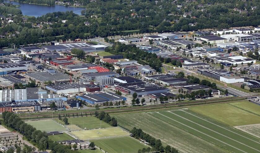 Bedrijventerrein Zandhorst in Heerhugowaard. Een van de plekken in de regio Alkmaar met bedrijfsdaken die geschikt zijn voor het opwekken van zonne-energie.