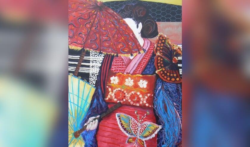 'Vlinderkimono', een werk van Joan Dirkson.