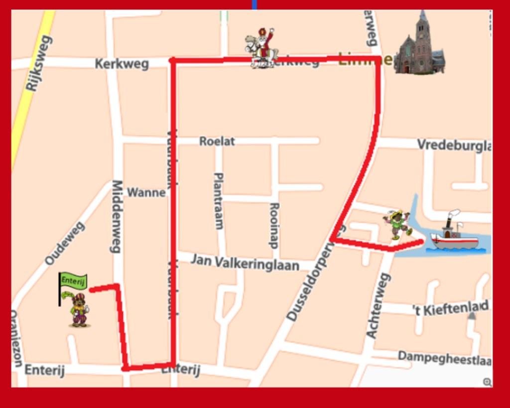 De route van de optocht. Foto: aangeleverd © Uitkijkpost Media B.v.