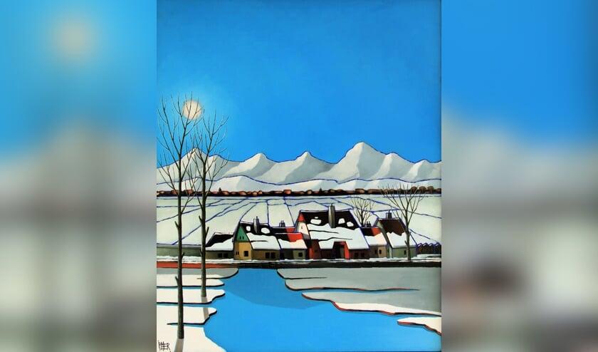 Een schilderij van Herbert Willems.