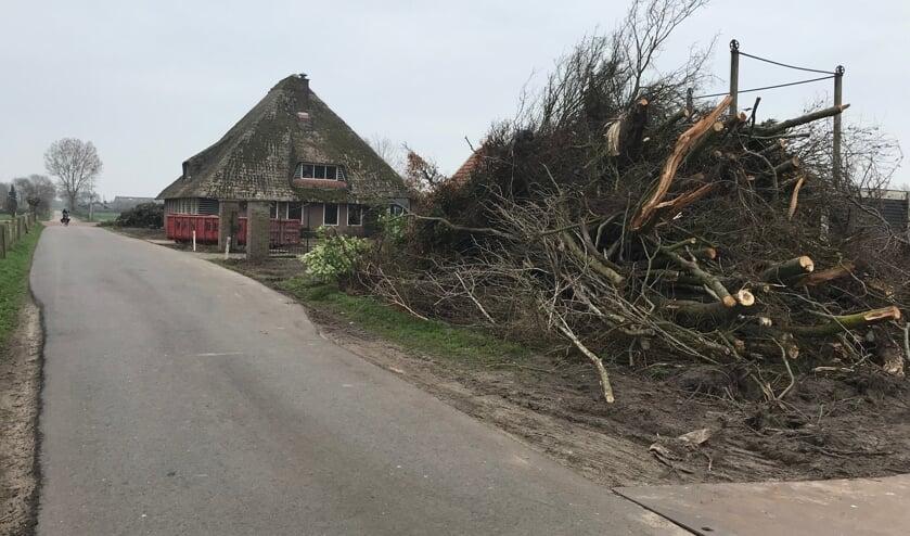 De stolpboerderij aan de Lagelaan zal nu snel verdwenen zijn.