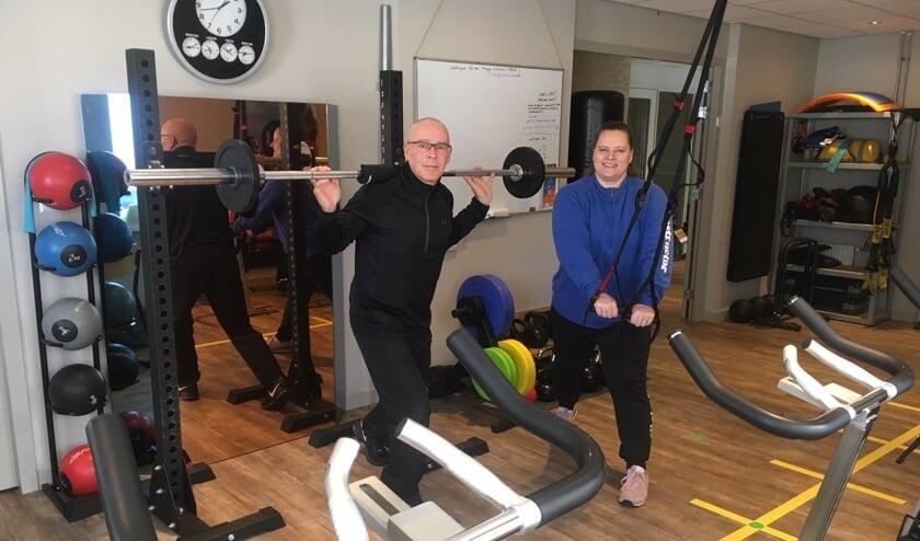 Jan en Esther Stegink in de zaal waar personal training wordt verzorgd
