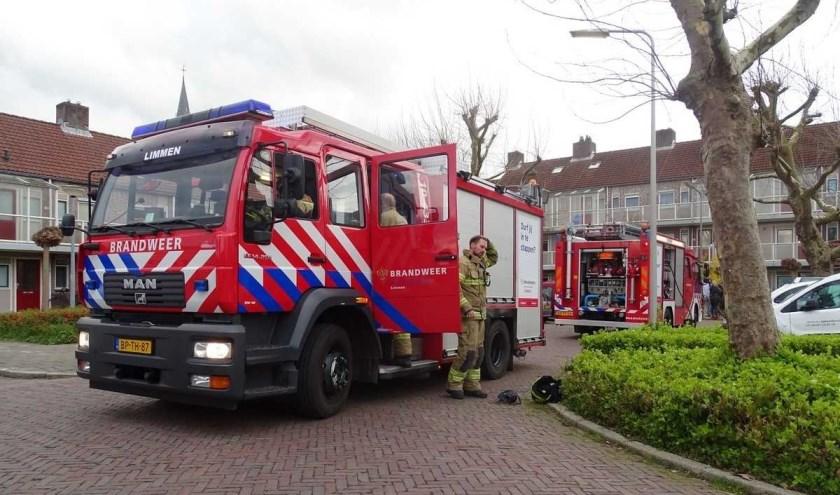 Brandweer Limmen assisteerde bij een binnenbrand aan het Kloosterhof in Heiloo