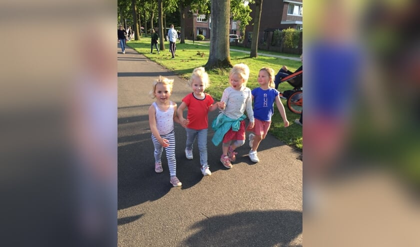 Lea, Puck, Lieke en Danique uit groep 1/2 c van de Radboudschool