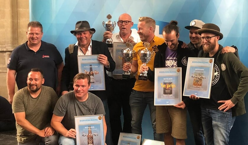 Alle winnaars van de Noord-Hollandse Bierwedstrijd.