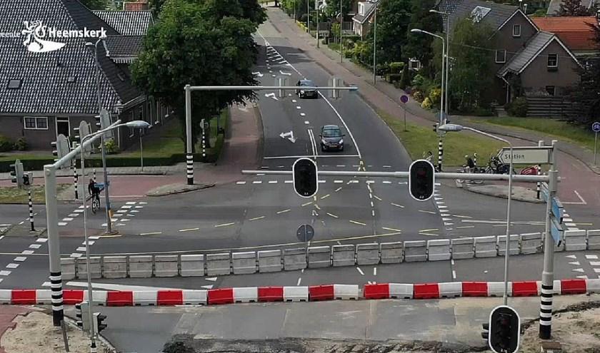 Het kruispunt Tolweg-Hoflaan-Gerrit van Assendelftstraat.