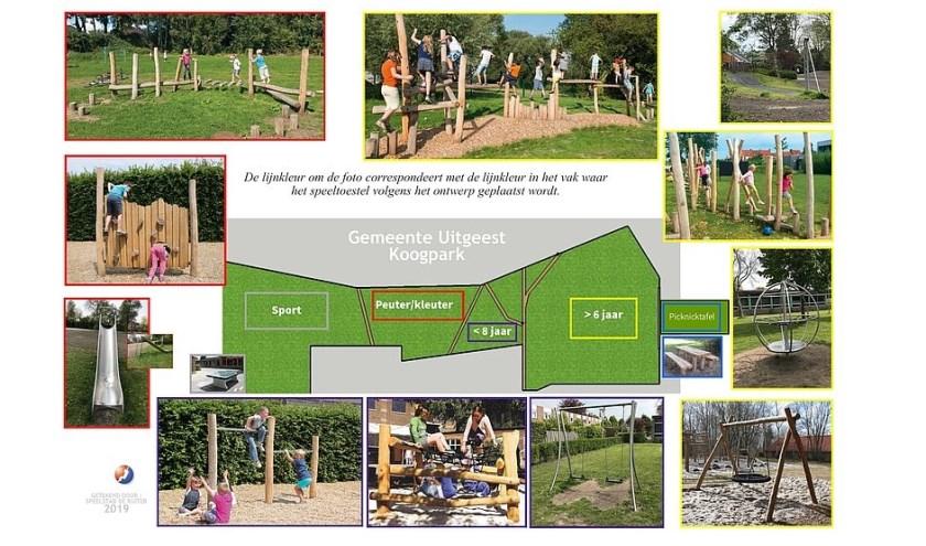 Foto: Gemeente Uitgeest (ontwerp spelen in koogpark)