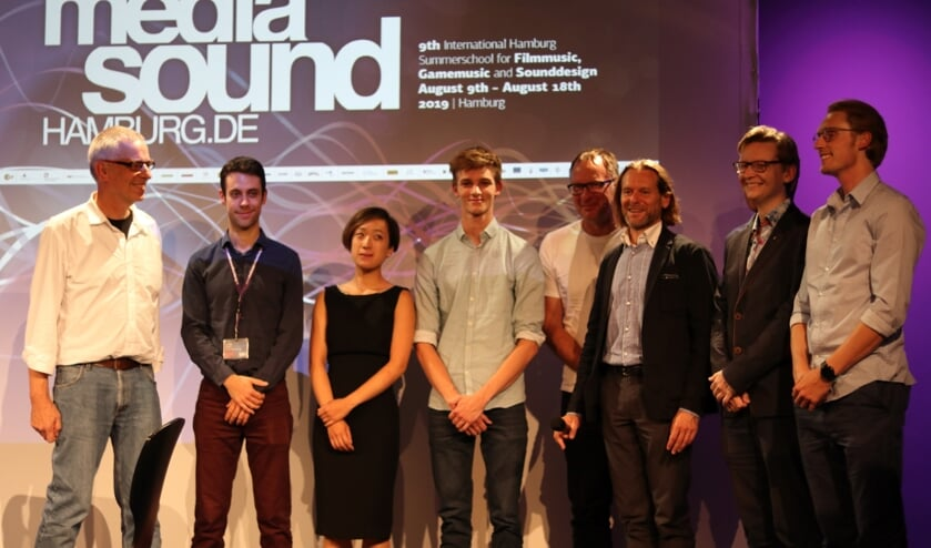 David (4e links) won de prestigieuze internationale Young Talent Award Media Music.