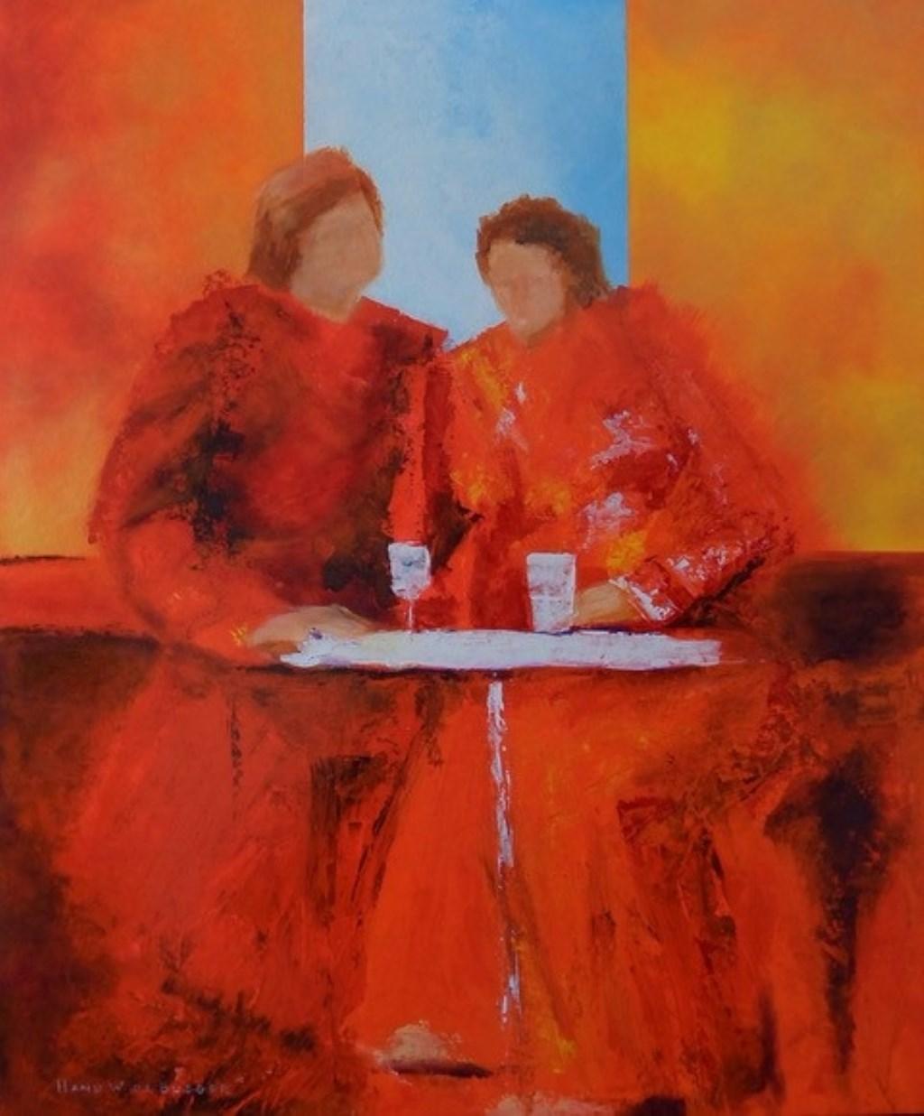 De schilderstijl van Hans de Bueger is divers en kleurrijk.