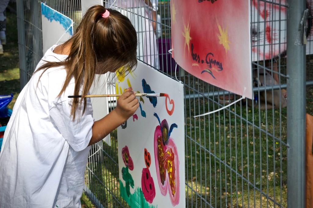 Workshop schilderen voor kinderen. Foto: STiP Fotografie © Uitkijkpost Media B.v.